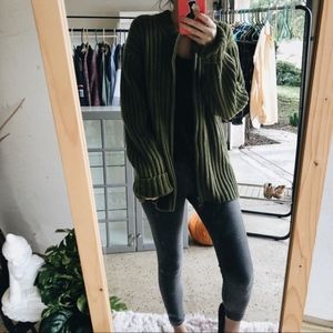Vintage Chunky Baggy Slouchy Green Sweater Gap